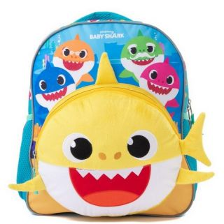 """BABY SHARK 14"""" BACKPACK W/SINGING CHIP"""