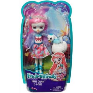 ENCHANTIMALS SAFFI SWAN DOLL